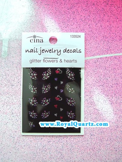 Cine Nail Decals - Flowers & Hearts