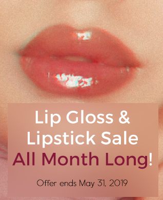 All lip glosses and lipsticks listed on Royal Quartz are on sale all month long!
